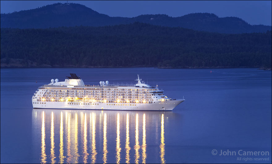 The World at anchor at Salt Spring Island